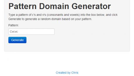 Branded Pattern Domain Generator